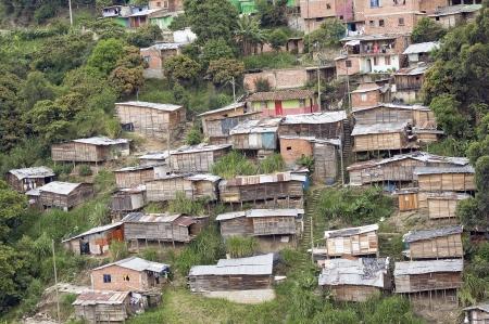 Poor Neighborhood Houses on a Hill
