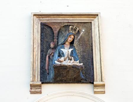 vestal: External Facade of Altagracia Church at Santo Domingo, Dominican Republic Stock Photo