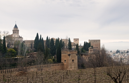 Alhambra Palace Overlooking Granada, Spain