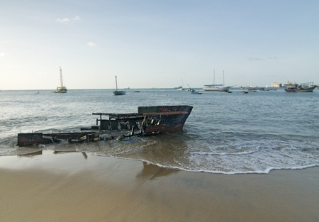 Wrecked Boat on Shore