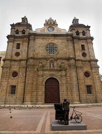 san pedro:  San Pedro Claver Cathedral at Cartagena de Indias, Colombia Stock Photo