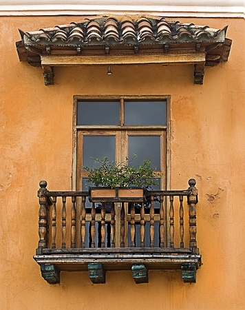 Typical Latin-American Colonial Balcony