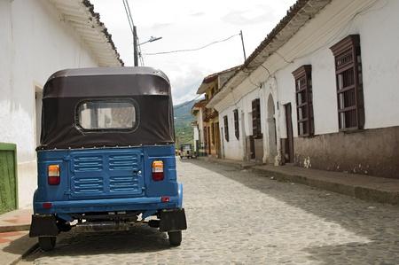 Cobblestone Street at Santa Fe de Antioquia, Colombia photo