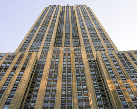 Low angle view of the Famous Empire State Building in Manhattan, New York City