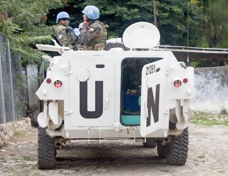 MILOT, HAITI - NOV 17, United Nations Peacekeeping Mission on November 17, 2013 in Milot, Haiti
