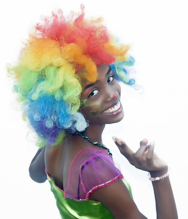 Cheerful Female Clown Smiling Banco de Imagens
