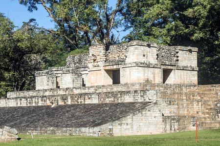 Ancient Maya Temple at Copan, Honduras