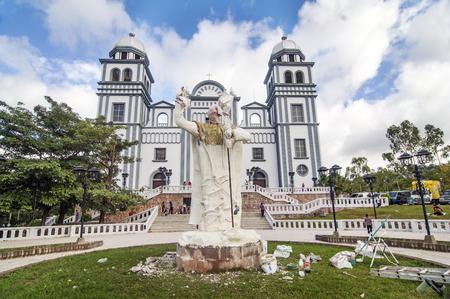 TEGUCIGALPA, HONDURAS - JANUARY 1  Unfinished sculpture  of Pope John Paul II in the Suyapa Church on January 1, 2014 in Tegucigalpa, Honduras