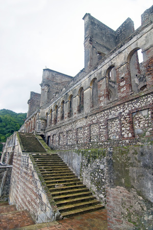 Frontal Wall of Sans-Souci Palace Ruins at Milot, Haiti