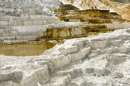 Mineral Hot Spring at Yellowstone National Park Banco de Imagens