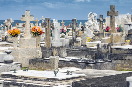 SAN JUAN, PUERTO RICO - APRIL 4 The Maria Magdalena Cemetery at Old San Juan Coast is located by the sea between the San Felipe and San Cristobal Fortresses on  April 4, 2014 in San Juan, Puerto Rico  Editorial