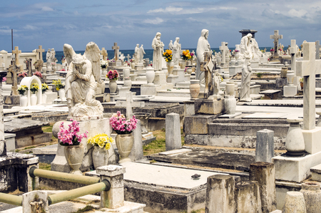 Cemetery by the Sea Banco de Imagens - 27714580