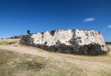 Colonial Fortification Frontal Walls Banco de Imagens