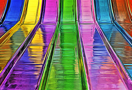 Colorful Abstract Wet Sliders Stock Photo