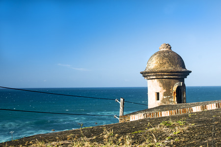 Watch Tower Overlooking the Sea Banco de Imagens