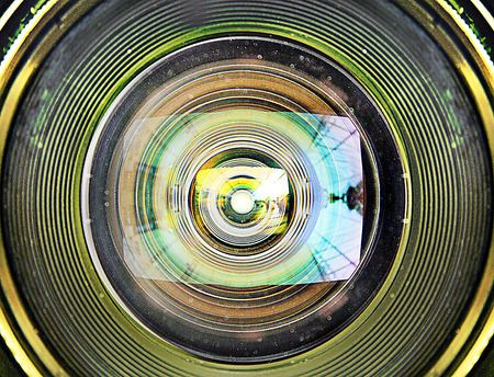 Abstract Neglected Camera Lens Struggling to Autofocus Banco de Imagens
