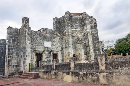 Rear View of the Cathedral of Santa Mar?a la Menor in the Colonial Zone of Santo Domingo, Dominican Republic.