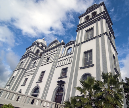 Low Wide View of Suyapa Church at Tegucigalpa Honduras