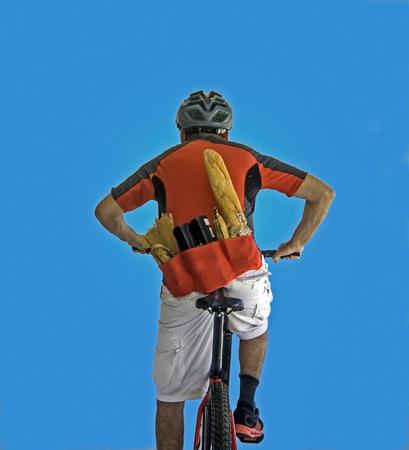Biker Loaded with Food and Drink Banco de Imagens - 39377664