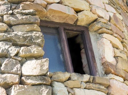 Brick Tower Window Background Banco de Imagens - 58469260