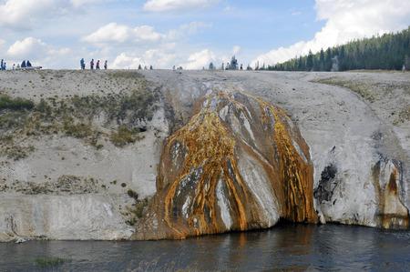 Mineral Rock at Yellowstone national Park, USA