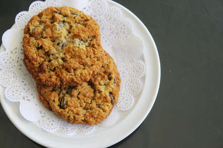 oatmeal cookie: Oatmeal Cookie Stock Photo
