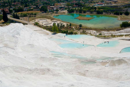 carbonates: Original site in turkey done by hard water springs that create natural limestone basins full of water