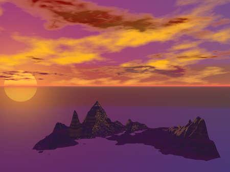 Cove Sunset photo
