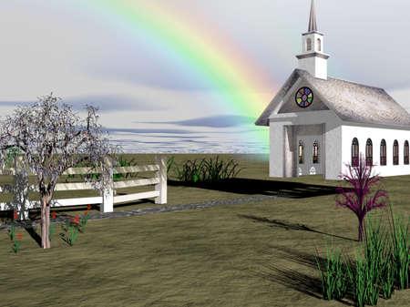 boulder: Church and Rainbow