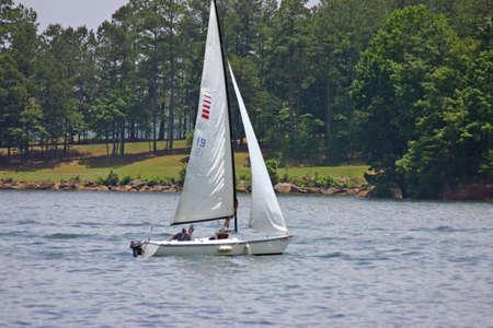 Sailing on Lake Stock Photo - 218643