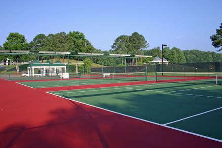 Cancha de tenis Foto de archivo - 218928