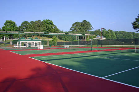 raquet: Tennis Court Stock Photo