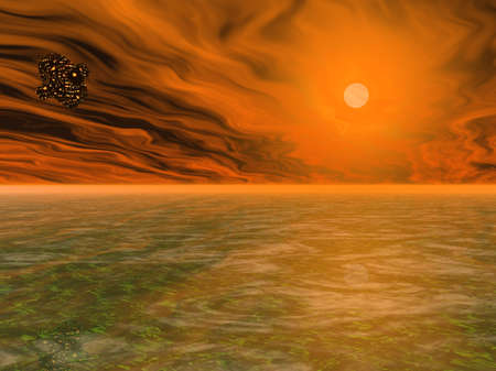 desert storm: Galactic Sea Stock Photo