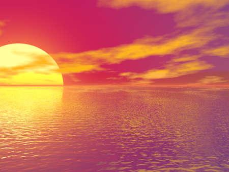 Pink Sunset photo