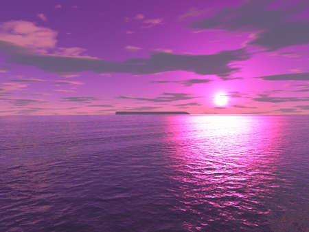 screensavers: purple sun Stock Photo