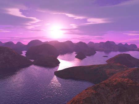 screensavers: nice sunset