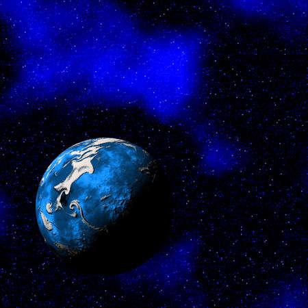 pluto: blue planet