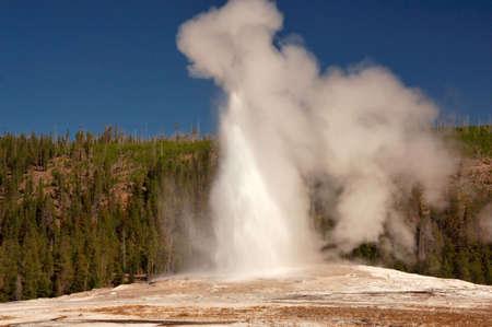 Geyser Steam and Water photo