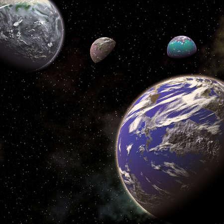 planets 版權商用圖片