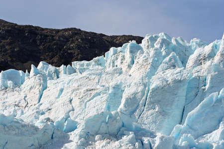 basin mountain: Alaskan Glacier Stock Photo