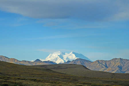 Mount Denali in distance photo