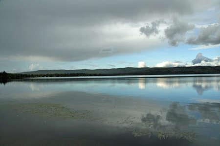Peaceful Lake in Alaska photo