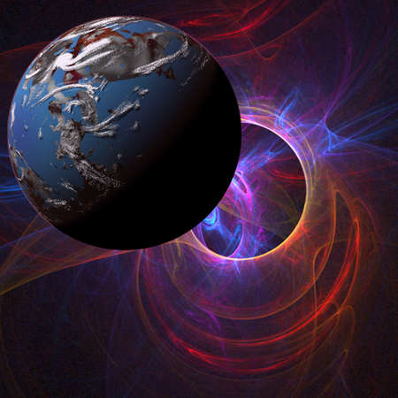 gravitational: Planet abstract Stock Photo