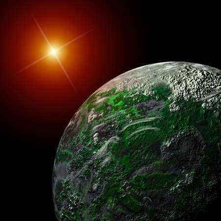 Light and Planet 版權商用圖片