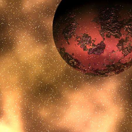 rendition: deep space Stock Photo