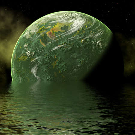 Planet flood photo