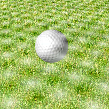 golf ball on grass photo