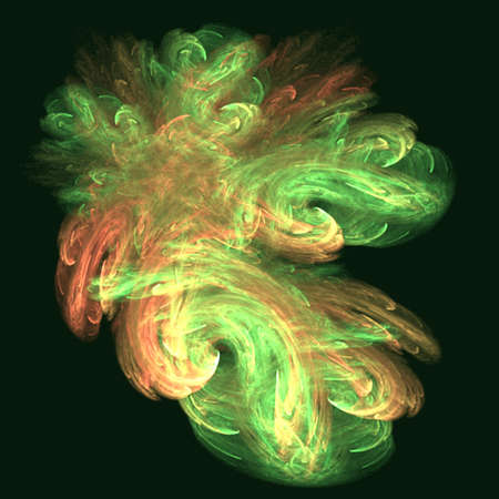 green fluff Reklamní fotografie