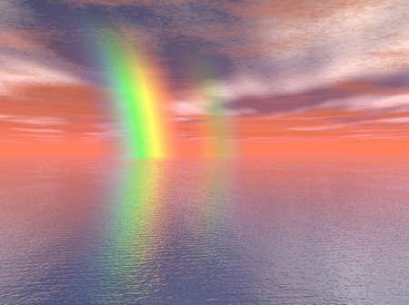 Rainbow over the Sea Stok Fotoğraf