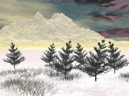 barren: Cold land Stock Photo